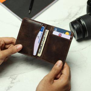 Front Pocket Leather Wallet – Olive