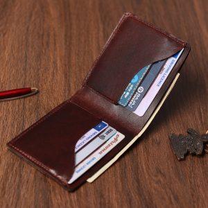 Handmade Leather Wallet- Butterfly
