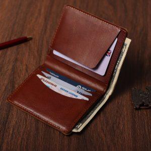 Handmade Leather Wallet – Dark Desert Version 2