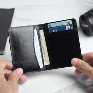 Front Pocket Leather Wallet – Black