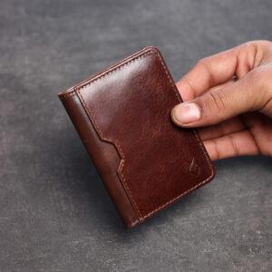 Front Pocket Leather Wallet – Brown