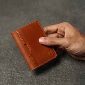 Front Pocket Leather Wallet – Tan