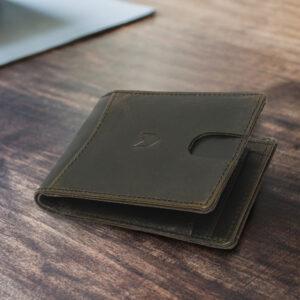 Slim Bifold Wallet – Olive Camel