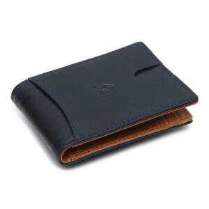 Slim Bifold Wallet – Blue Tannish