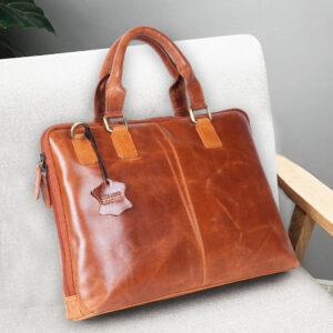 Men's Leather Messenger Laptop Bag – Tannish