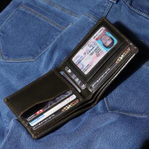 Bifold RFID Leather Wallet – Olive Camel