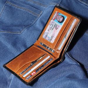 Bifold RFID Leather Wallet – Black Tannish